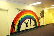 Picture of Children and Butterflies Wall Scene 2 (Children's Mural)