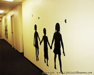 Picture of Kids Holding Hands 37 (Children Silhouette Decals)