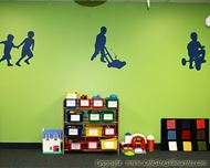 Picture of Boy Playing 24 (Children Silhouette Decals)